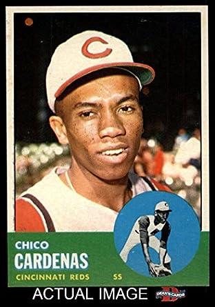 1963 Topps # 203 Leo 'Chico' Cardenas Cincinnati Reds (Baseball Card