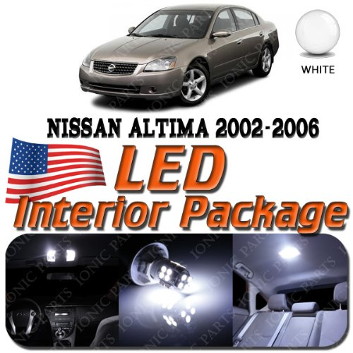Super White 9 Light Bulbs Led Smd Interior Package - Nissan Altima 2002-2006
