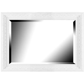 Brio 22480 miroir manor blanc blanc 50 x 70 cm cuisine maison maison m137 for Miroir 40x50