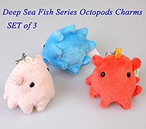 Sea Creature Plush Doll Collection (set 3 octopods)