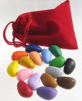 Crayon Rocks Sixteen Colors (In a Red Velvet Bag)