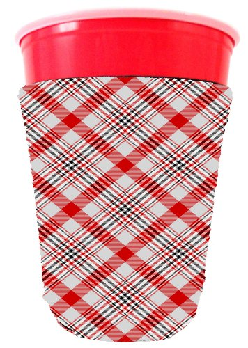 Coolie Junction Plaid 45 Pattern Solo Cup Coolie Red (Red Solo Cup Bottle Opener compare prices)