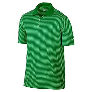 Nike Golf Victory Stripe Polo Classic Green/White S