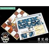 七五三 3歳 男の子用 金襴袴&小物の7点セット18cm「花浅葱、亀甲に菊」TTH612