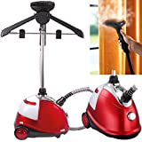 Quest PROFESSIONAL & PORTABLE VERTICAL FLOOR STANDING CLOTHES GARMENT STEAMER FABRIC STEAMER IRON 1800W WITH ROTATABLE HANGER AND MORE FREE ATTACHMENTS