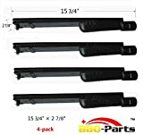 bbq-parts CBC301 (4-pack) BBQ Barbecue Replacement Gas Grill Cast Iron Burner for Aussie, Bakers and Chefs, Barbeques Galore (Turbo), Bull, Calaphon, Centro, Charbroil, Char broil, Coleman, Costco, Glen Canyon, Grand Hall, Nexgrill, Sams, Sam's, Sterling Forge, Sunshine, Lowes Model Grills, CIT (15 3/4