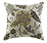 Casual Accent Pillow with Flower Design in Yellow and White by Coaster (Set of 2)