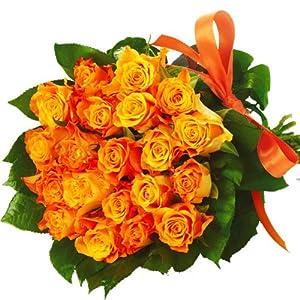 blumen zum valentinstag blumenstrauss 20 orange rosen pur. Black Bedroom Furniture Sets. Home Design Ideas