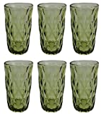 Vintage 6 Teile Set Rombus König Trinkglas Glas Gläser Weingläser