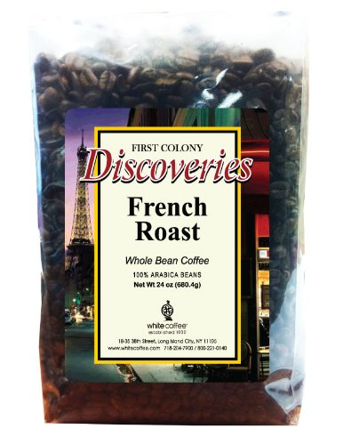 First Colony Whole Bean Coffee, Decaffeinated French Roast, 5-Pound