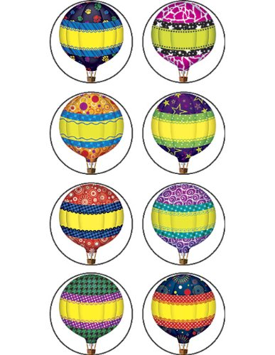 Teacher Created Resources Hot Air Balloons Mini Stickers (5271)