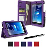 rooCASE Asus MeMO Pad HD 7 Case - ME173X Dual View Stand Folio Cover - PURPLE (With Auto Wake / Sleep Cover)