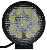 スポットタイプ◎明るさ2400lm 9灯 27W 集光型LED 作業用 ライト12V-24V適応