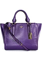 Coach 33545 Smoothe Leather Crossbody Carryall Bag in Violet