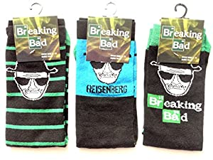 Mens Socks Breaking Bad Walter White Blue Reisenberg
