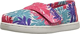TOMS Kids Unisex Seasonal Classics (Infant/Toddler/Little Kid) Pink Satin Floral Loafer 3 Infant M