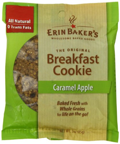 Erin Baker's Breakfast Cookie Caramel Apple, 3-Ounce Individually Wrapped Cookies (Pack of 12)