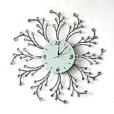 Salon créatif diamant en fer forgé horloge murale en fer forgé horloge murale en fer forgé horloge murale européenne horloge murale artistique gros fabricants , black...