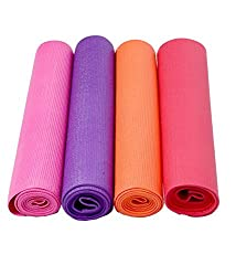 Kuber Industries Yoga Thick Anti Skid Washable Fitness Exercise Imported Non-Slip Surface Set of 4 Pcs Color & Print might vary according to availability