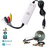 Box USB Scheda Acquisizione Video Grabber per passare VHS su DVD completo di software Video Editing