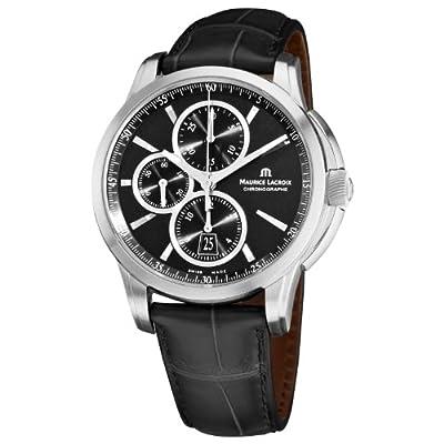 Maurice Lacroix Men's PT6188-SS001330 Pontos Pontos Chronograph Black Strap Watch by Maurice Lacroix