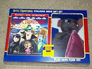 Hotel Transylvania Limited Edition Blu-Ray DVD Gift Set with Mavis Plush