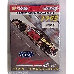 1993 MAXX NASCAR FORD MOTORSPORT TEAM THUNDERBIRD COMPLETE SET 1-50 by Maxx