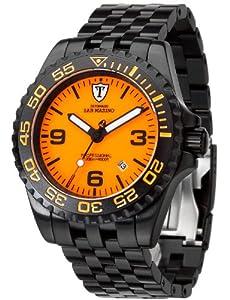 Detomaso Armbanduhr San Marino schwarz/orange Ø 45 mm