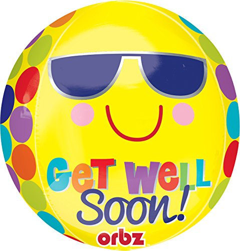 Amscan 15/38 x 16 x 40 cm uni soleil Get Well Soon Orbz les ballons de Papier d'aluminium