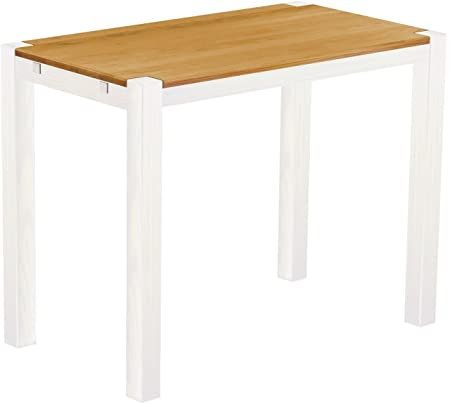 Brasil High 'Rio Kanto' Table 140 x 80 x 109 cm, Bonito Solid Wood Pine – Honey White