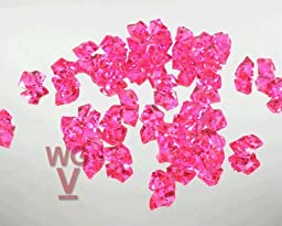 10 - 1 Pound bags of Acrylice Ice Rocks Vase Fillers Table Scatter (Hot Pink)