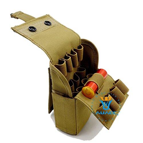 Survival Gear multifunzione MOLLE Tactical borse, borse, riviste, 25, da campeggio portatile e sistema MOLLE PALS 25, 12 Gauge Reload Magazine, conchiglie, Shotgun