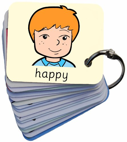 Feelings-Emotions-101-George-Picture-Exchange-Communication-Keyring-Autism-AAC-ASD-Visual-Aid-Resource