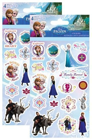 Frozen Anna Elsa Party Favor Stickers ~ 8 Sticker Sheets by Disney
