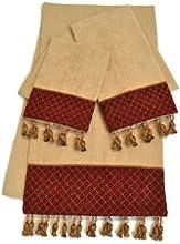 Sherry Kline Antoinette 3-Piece Decorative Towel Set Wheat