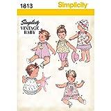 Simplicity Pattern 1813 Babies Dress and Separates Size XXS XS S M L