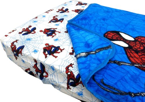 Spider-Man Webslinger Toddler Bed Fitted Sheet Blanket Set