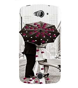 PrintVisa Romantic Love Couple Road 3D Hard Polycarbonate Designer Back Case Cover for Acer Liquid Jade Z530