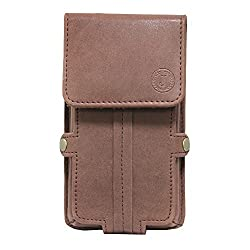 Jo Jo A6 Nillofer Series Leather Pouch Holster Case For Blackberry Priv Dark Brown