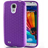 Hyperion Samsung Galaxy S5 Extended Battery HoneyComb Matte TPU Case / Cover (Fits 5600mAh and Hyperion's 6500mAh Extended Battery) [2 Year No Hassle Warranty] (CASE ONLY. Does not include battery) **Hyperion Retail Packaging** - PURPLE