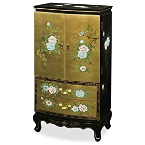 Amazon.com - Chinese Style Jewelry Armoire - Gold Leaf ...
