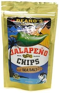 Deanos Sea Salt Jalapeno Chips 225oz from Deanos Jalapenos