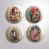 MN-139 Princess Magnet - Group of 4 Magnets - Funny Magnets - Refrigerator Magnets