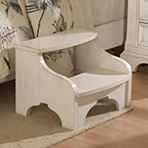Heirloom Foot Stool-Antique White