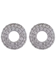 1.0 ? By Voaka Fashion Silver Metal Base Earring Studs For Women - B00PAY2NYC