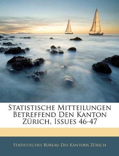 Statistische Mitteilungen Betreffend Den Kanton Zürich