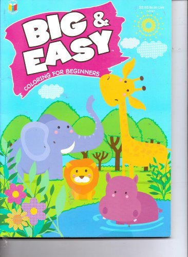 Big & Easy Coloring Book for Beginners (Assorted, Designs Vary) - 1