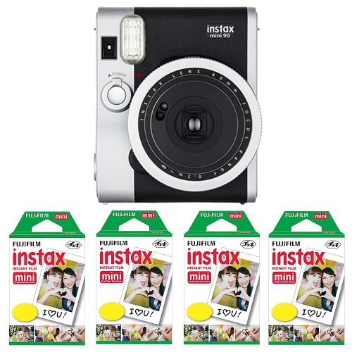 Fujifilm-FU64-INSM9K040-Fujifilm-INSTAX-MINI-90-NEO-CLASSIC-Camera-and-Film-Kit-40-Exposures-Black-Silver
