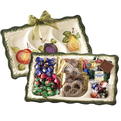 Broadway Basketeers Fruit Motif Ceramic Gift Tray for Mother's Day