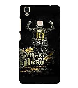 PrintVisa Messi Hero Football 3D Hard Polycarbonate Designer Back Case Cover for VivoV3